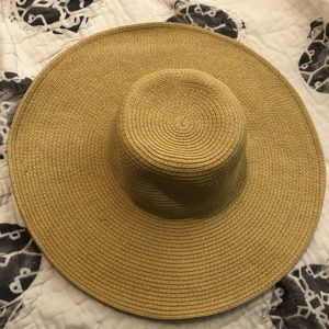 J Crew Floppy tan beach hat